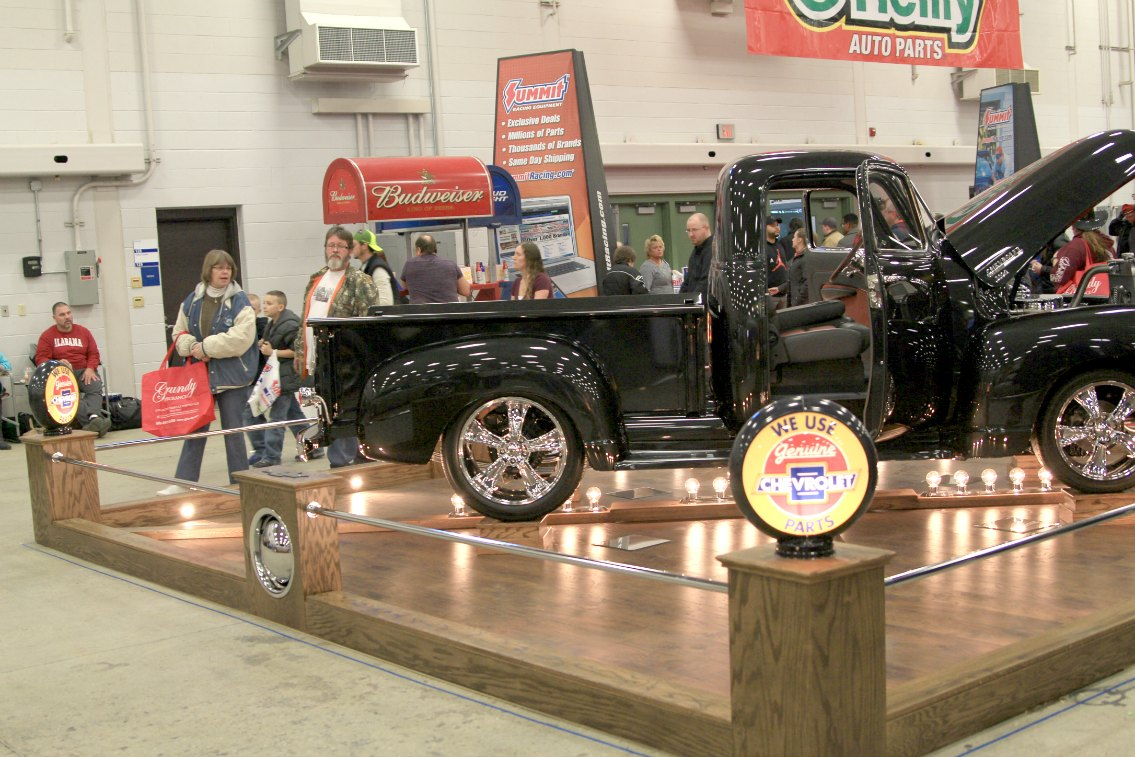 chevy 3100 black pickup turns heads at 2016 wow indianapolis. Black Bedroom Furniture Sets. Home Design Ideas
