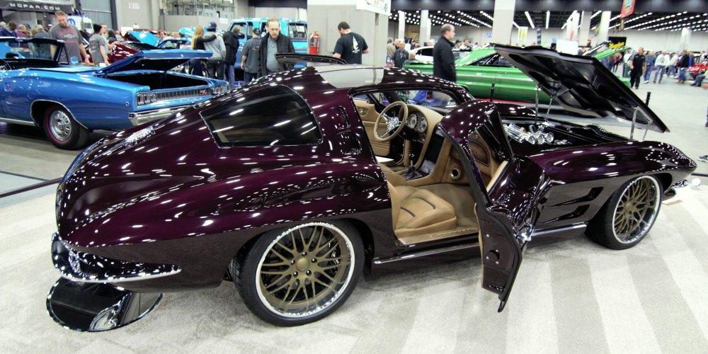 custom 1963 split window chevy corvette detroit autorama 2017