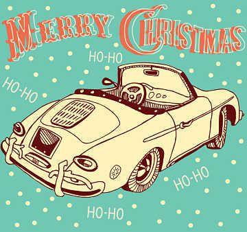 Classic Auto Merry Christmas