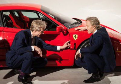 Keno Brothers examine ferrari at auction