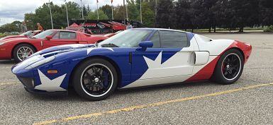 2005 Ford GT Flag theme at the rally