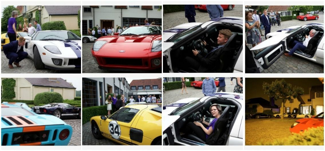 Belgium natives check out Ford GT road cars after arrival from the UK