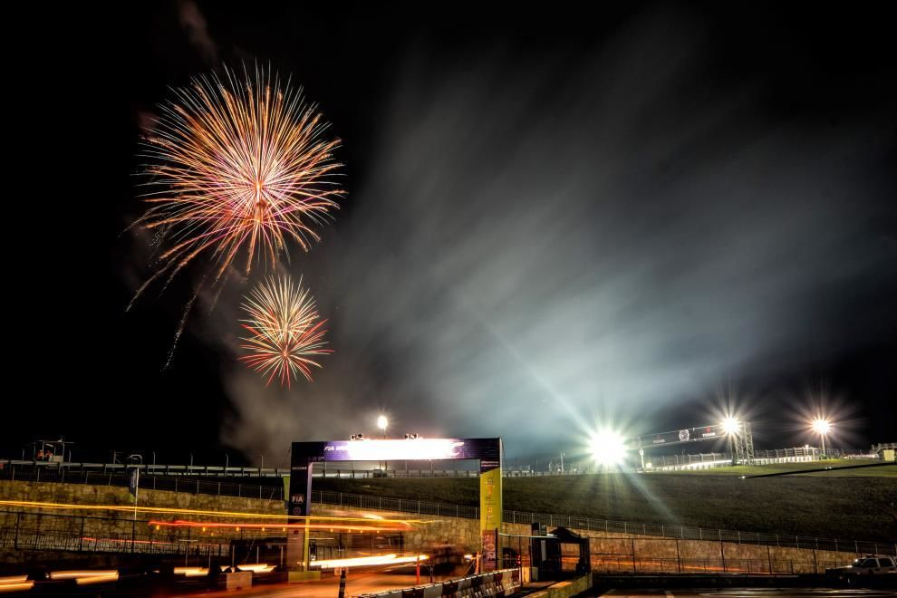 Fireworks mark the end for the Rally winners