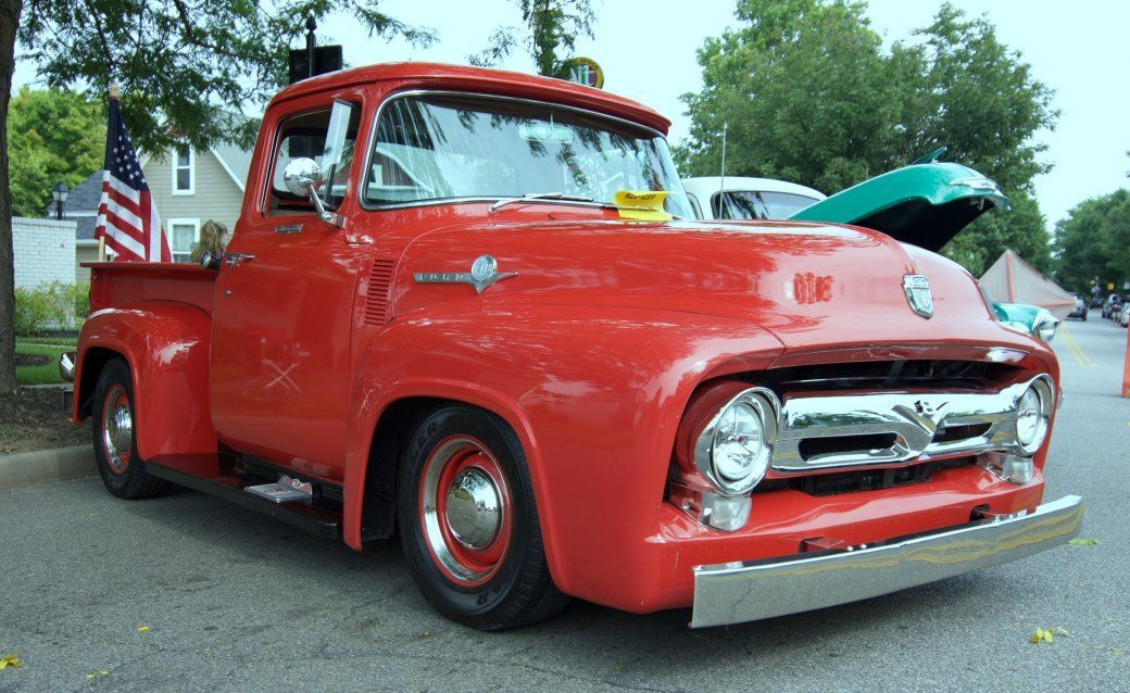 1956 Ford F100 truck attends its first artmobilia