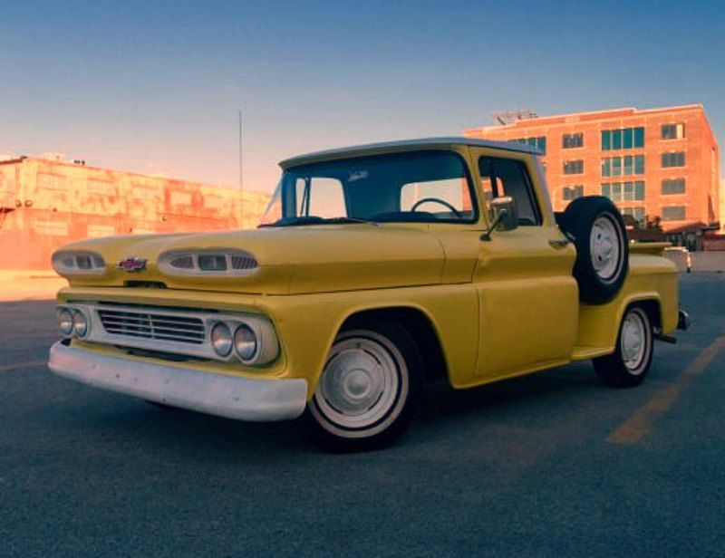 yellow 1960 c-10 a rare find