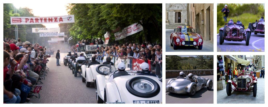 Mille Miglia Race 90th anniversary turn out