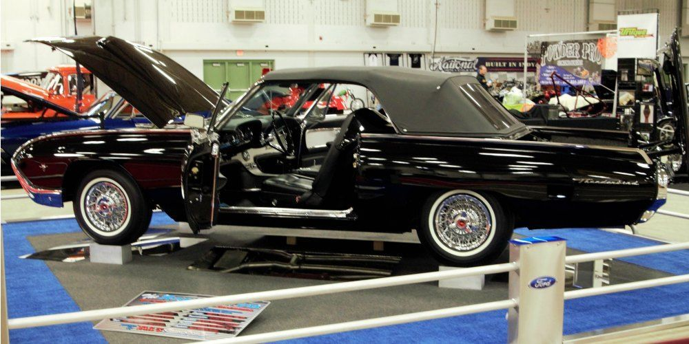 1963 m code t bird convertible is the star at 2017 world of wheels