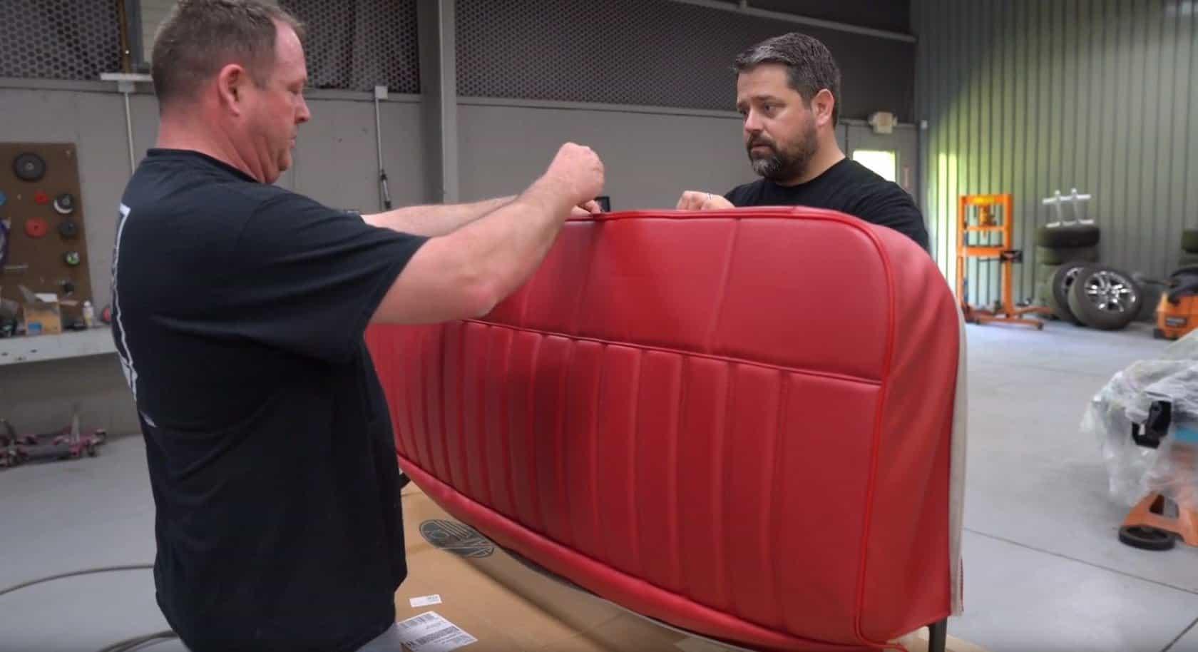 c10 truck install upholster