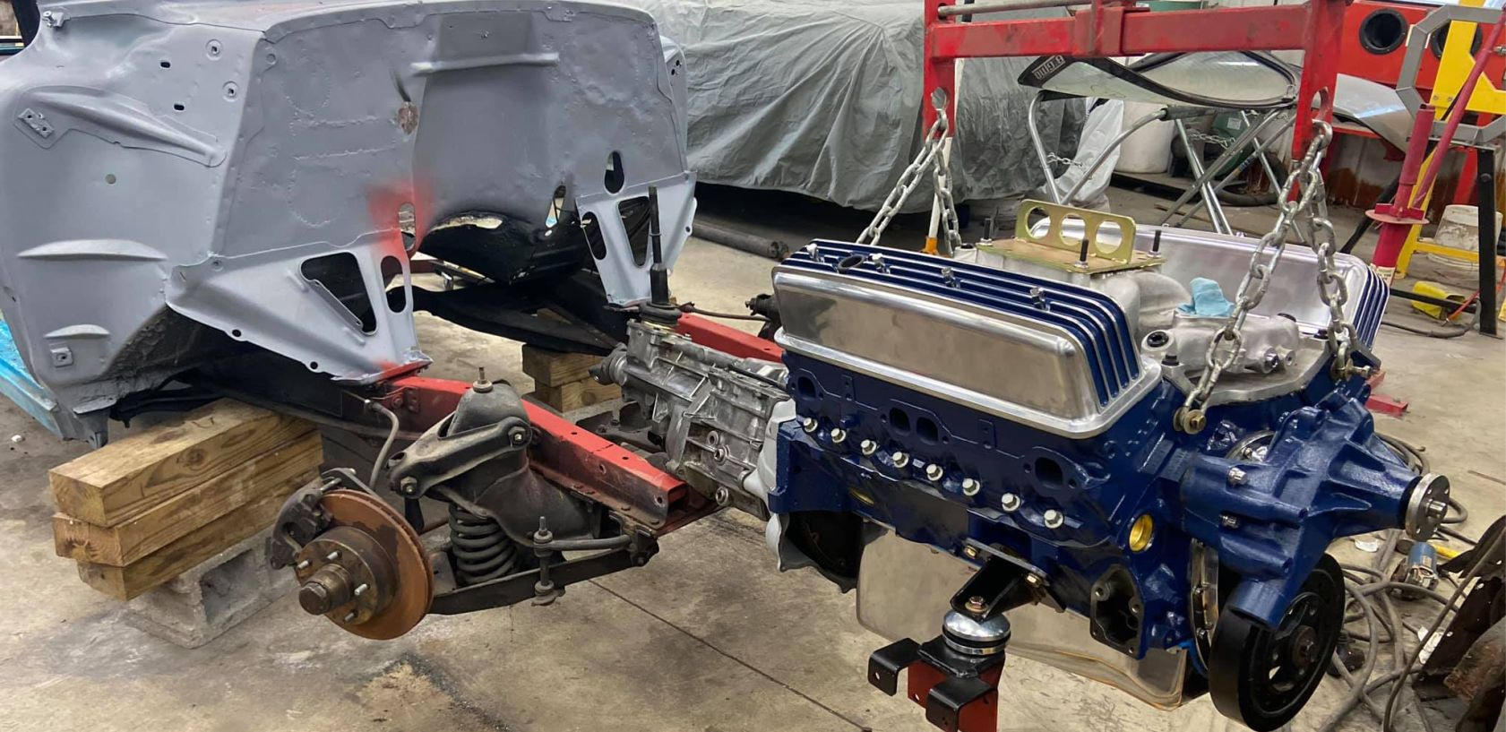 bolting everything on engine